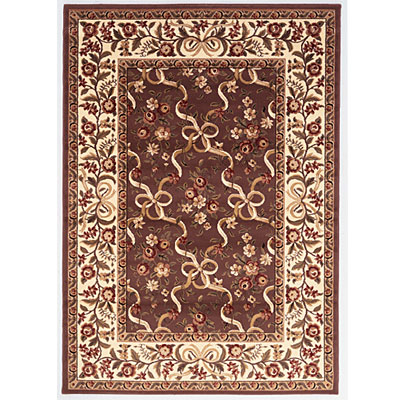 KAS Oriental Rugs. Inc. Cambridge 2 x 2 Cambridge Plum/Ivory Floral Ribbons 7311