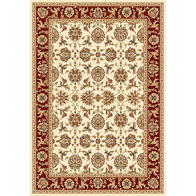 KAS Oriental Rugs. Inc. Cambridge 7 Octagon Cambridge Ivory/Red Kashan 7312