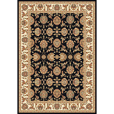 KAS Oriental Rugs. Inc. Cambridge 7 Octagon Cambridge Black/Ivory Kashan 7313