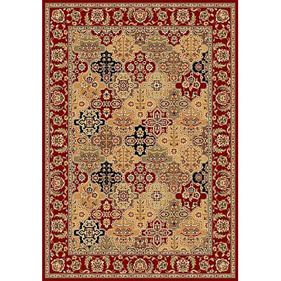 KAS Oriental Rugs. Inc. Cambridge 7 Octagon Cambridge Red Kashan Panel 7325