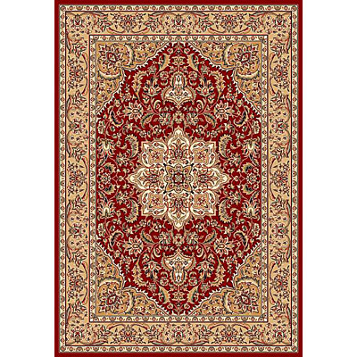 KAS Oriental Rugs. Inc. Cambridge 2 x 2 Cambridge Red/Beige Kashan Medallion 7326