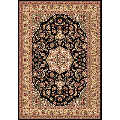 KAS Oriental Rugs. Inc. Cambridge 2 x 2 Cambridge Black/Beige Kashan Medallion 7327