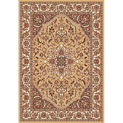 KAS Oriental Rugs. Inc. Cambridge 2 x 2 Cambridge Beige/Ivory Kashan Medallion 7328