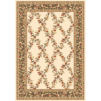 KAS Oriental Rugs. Inc. Cambridge 2 x 2 Cambridge Ivory/Sage Trellis 7329