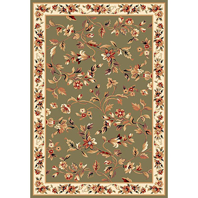 KAS Oriental Rugs. Inc. Cambridge 2 x 2 Cambridge Sage/Ivory Floral Vine 7332