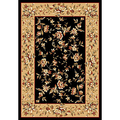 KAS Oriental Rugs. Inc. Cambridge 2 x 3 Cambridge Black/Beige Floral Delight 7336