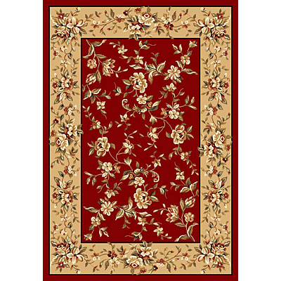 KAS Oriental Rugs. Inc. Cambridge 8 x 11 Cambridge Red/Beige Floral Delight 7337