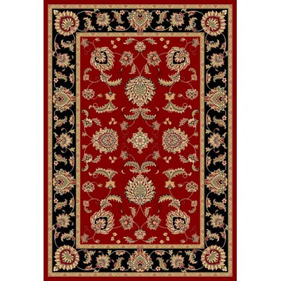 KAS Oriental Rugs. Inc. Cambridge 7 Octagon Red Black Bijar 7342
