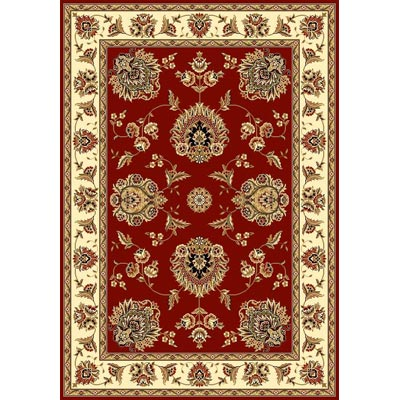 KAS Oriental Rugs. Inc. Cambridge 7 Octagon Red Ivory Floral Mahal 7340