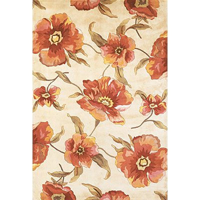 KAS Oriental Rugs. Inc. Catalina Runner 2 x 8 Catalina Ivory Poppies 766