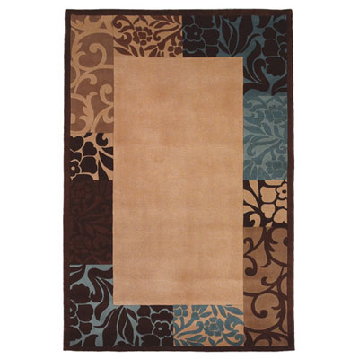 KAS Oriental Rugs. Inc. Chateau 5 x 8 Beige Blue Damask Border 3670