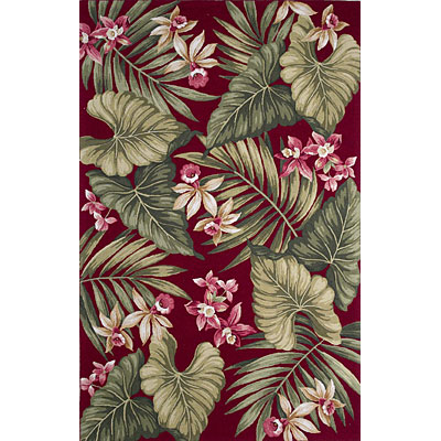 KAS Oriental Rugs. Inc. Colonial 3 x 4 Oval Colonial Red Orchid Flora 1717