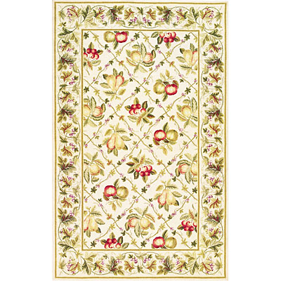 KAS Oriental Rugs. Inc. Colonial 3 x 4 Oval Colonial Ivory Summer Fruits 1741