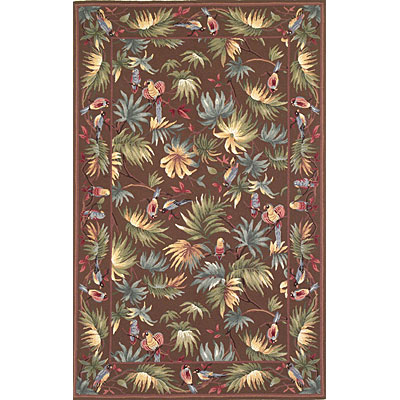 KAS Oriental Rugs. Inc. Colonial 3 x 4 Oval Colonial Mocha Rainforest 1761