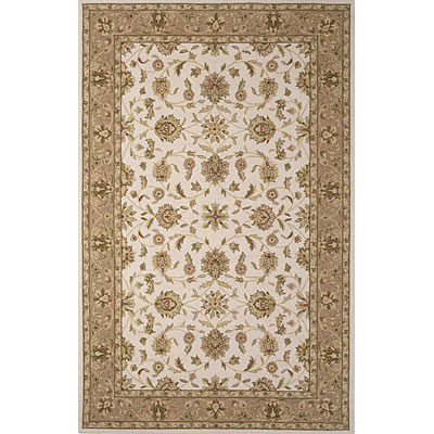 KAS Oriental Rugs. Inc. Colonial 3 x 4 Oval Colonial Ivory/Beige Mahal 1766