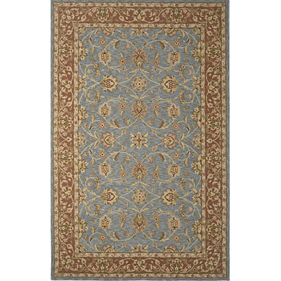 KAS Oriental Rugs. Inc. Colonial 3 x 4 Oval Colonial Heather Blue/Mocha Mahal 1767