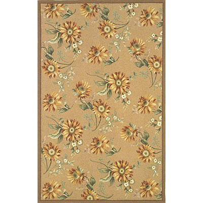 KAS Oriental Rugs. Inc. Colonial 3 x 4 Oval Colonial Gold Sunflowers 1772