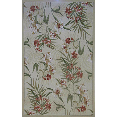 KAS Oriental Rugs. Inc. Colonial 3 x 4 Oval Colonial Ivory/Rust Wildflowers 1790