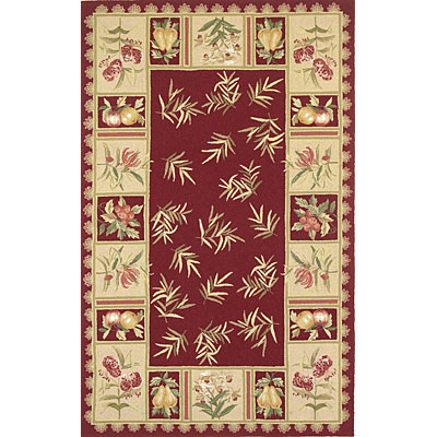 KAS Oriental Rugs. Inc. Colonial 3 x 4 Oval Colonial Red/Beige Morning Delight 1798