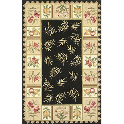 KAS Oriental Rugs. Inc. Colonial 3 x 4 Oval Colonial Black/Beige Morning Delight 1799
