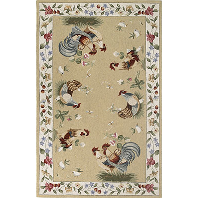 KAS Oriental Rugs. Inc. Colonial 8 x 10 Oval Colonial Cream/Ivory Colonial Kitchen 1819