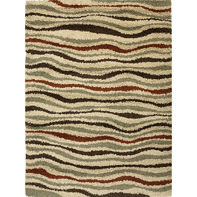 KAS Oriental Rugs. Inc. Elements Runner 2 x 7 Elements Beige Sahara Waves 151