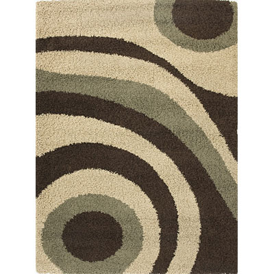 KAS Oriental Rugs. Inc. Elements 7 x 10 (Dropped Line) Elements Mocha/Sage Fusion 154