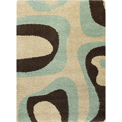 KAS Oriental Rugs. Inc. Elements Runner 2 x 7 Elements Sky/Mocha Plasma 156
