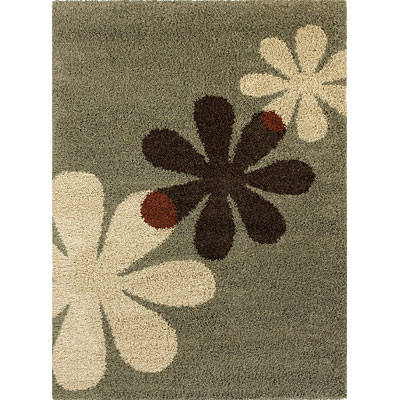 KAS Oriental Rugs. Inc. Elements 5 x 7 (Dropped Line) Elements Sage Flora 158