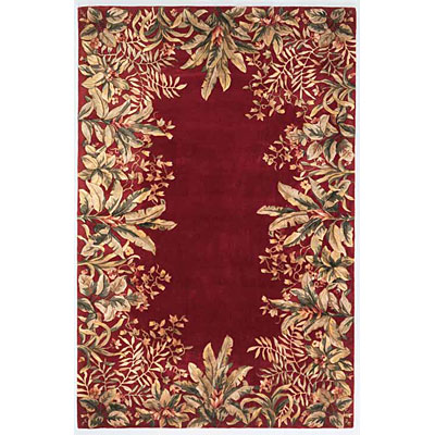 KAS Oriental Rugs. Inc. Emerald 8 Round Emerald Ruby Tropical Border 9017