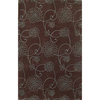 KAS Oriental Rugs. Inc. Emerald 2 x 3 Emerald Chocolate/Blue Flora 9037