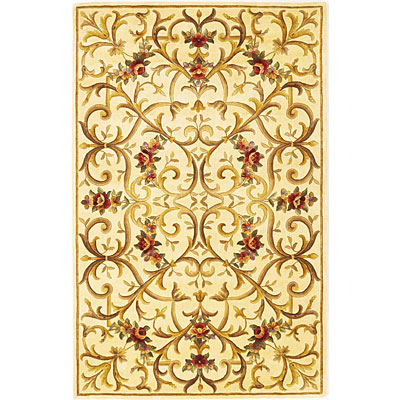 KAS Oriental Rugs. Inc. Emerald 2 x 3 Emerald Ivory Scroll with Flowers 9062