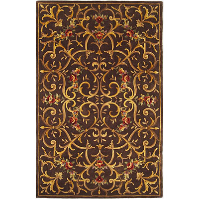KAS Oriental Rugs. Inc. Emerald 2 x 3 Emerald Mocha Scroll with Flowers 9064