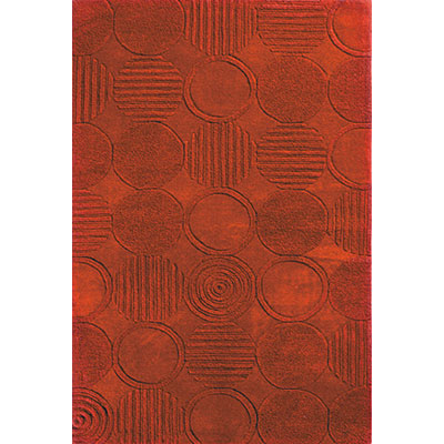 KAS Oriental Rugs. Inc. Eternity 2 x 4 Eternity Red Circles 1056