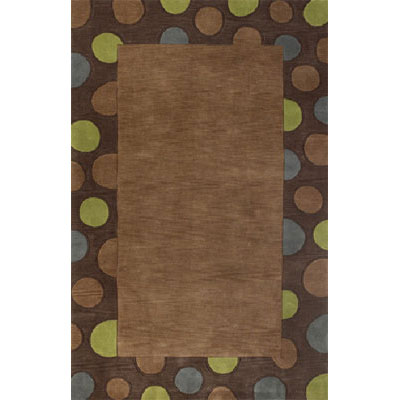 KAS Oriental Rugs. Inc. Fiore Runner 2 x 8 Coffee Mocha Fizz Border 3708