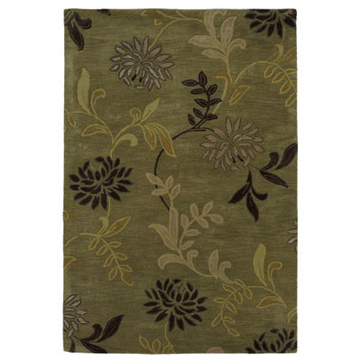 KAS Oriental Rugs. Inc. Florence 5 x 8 Green Floral 4564