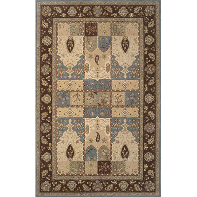 KAS Oriental Rugs. Inc. Imperial 3 x 5 Imperial Wedgewood/Coffee Kashan Panel 1622