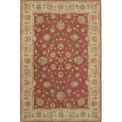 KAS Oriental Rugs. Inc. Imperial 8 x 10 Imperial Rust/Taupe Allover Kashan 1638