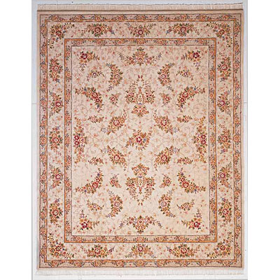 KAS Oriental Rugs. Inc. Imperial 3 x 5 Imperial Off-White All-Over Floral Kashan 1662