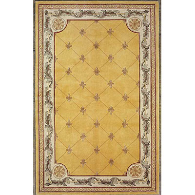 KAS Oriental Rugs. Inc. Jewel Runner 2 x 10 Jewel Gold Fleur-De-Lis 308