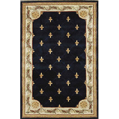 KAS Oriental Rugs. Inc. Jewel Runner 2 x 10 Jewel Navy Fleur-De-Lis 309