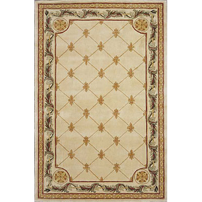 KAS Oriental Rugs. Inc. Jewel Runner 2 x 10 Jewel Antique Ivory Fleur-De-Lis 310