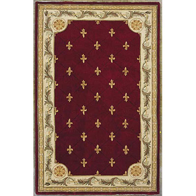 KAS Oriental Rugs. Inc. Jewel Runner 2 x 10 Jewel Red Fleur-De-Lis 311