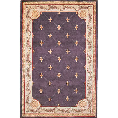 KAS Oriental Rugs. Inc. Jewel 5 x 8 Jewel Grape Fleur-De-Lis 312