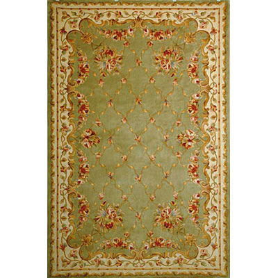 KAS Oriental Rugs. Inc. Jewel Runner 2 x 10 Jewel Sage Green Floral Trellis 332