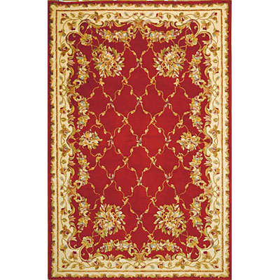 KAS Oriental Rugs. Inc. Jewel Runner 2 x 10 Jewel Crimson Floral Trellis 333