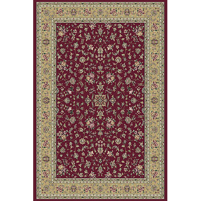 KAS Oriental Rugs. Inc. Kensington 3 x 5 Kensington Red/Gold Floral Vines 7711