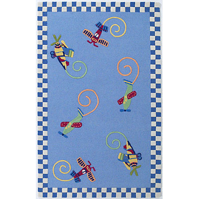 KAS Oriental Rugs. Inc. Kidding Around 5 x 8 Kidding Around Flying Fun 417