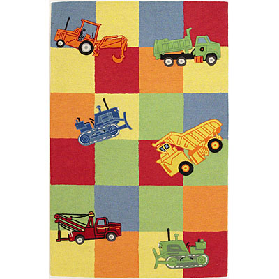 KAS Oriental Rugs. Inc. Kidding Around 5 x 8 Kidding Around Trucks Galore 424