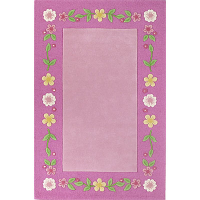 KAS Oriental Rugs. Inc. Kidding Around 8 x 10 Kidding Around Pink Floral Fun 437